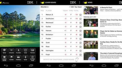 Photo of Aplicación oficial del Masters para iPhone, iPad y dispositivos Android