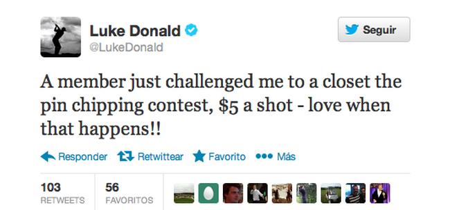 Concurso de chip con Luke Donald