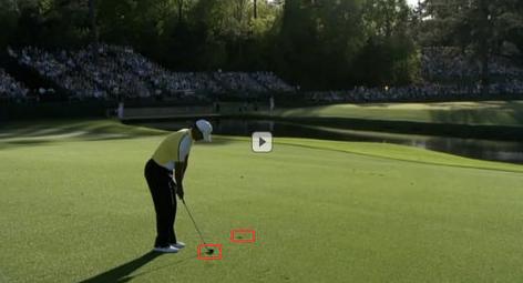 Tiger Woods - Masters 2013 - Dos golpes de penalidad