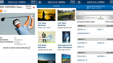 Photo of Aplicación del U.S. Open para iPhone, iPad y dispositivos Android