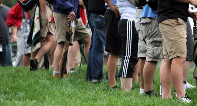 Público en el Merion Golf Club