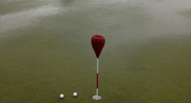 Putting green inundado