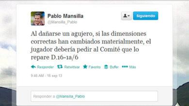 Las reglas de golf en redes sociales de Pablo Mansilla