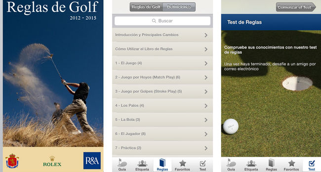 Aplicación Reglas del Golf para iPhone y iPad - RFEG
