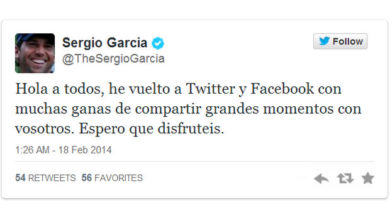 Photo of Sergio García vuelve a Twitter y Facebook