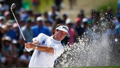 "Photo of El ""mal swing"" de Bubba Watson y sus dos chaquetas verdes"