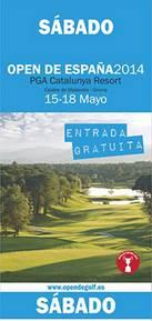 Entrada Gratis Open de España de golf - 2014 - PGA Cataluña - Sábado