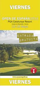 Entrada Gratis Open de España de golf - 2014 - PGA Cataluña - Viernes