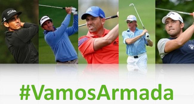 Españoles en el Open 2014 #VamosArmada