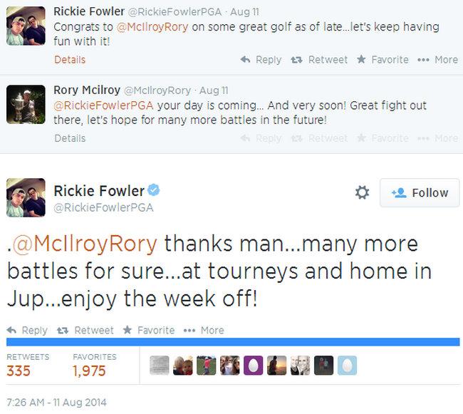 Conversación Rory McIlroy y Rickie Fowler - PGA Championship 2014 - Golf