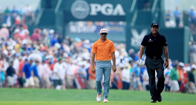 Phil Mickelson y Rickie Fowler - PGA Championship gol