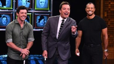 Rory McIlroy y Tiger Woods con Jimmy Fallon y Ice Bucket Challenge
