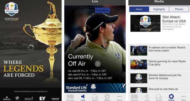Aplicación oficial de la Ryder Cup 2014 - Golf