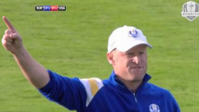 Photo of El golpe de la victoria de Jamie Donaldson en la Ryder Cup