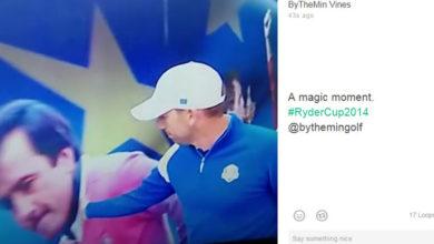 Sergio García besa la imagen de Seve Ballesteros - Ryder Cup - Golf