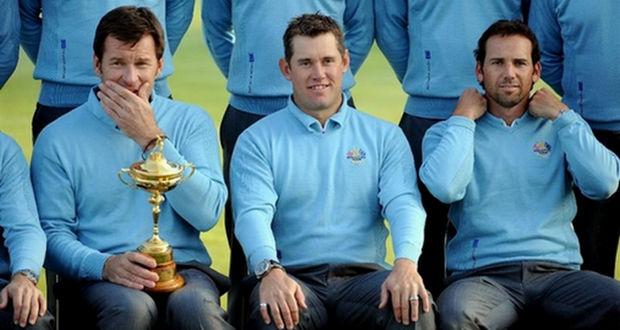 Sergio García y Nick Faldo useless inútil Ryder Cup Golf