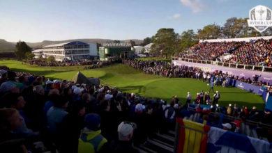 Photo of La atmósfera en el tee del 1 de la Ryder Cup de Gleaneagles