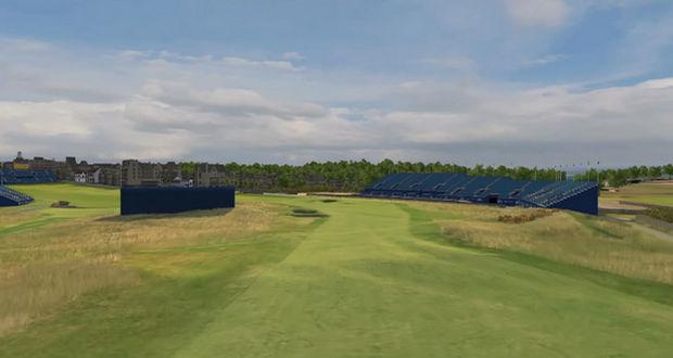 Hoyo 17 Old Course Saint Andrews Golf Open - Golpe a green