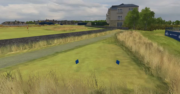 Hoyo 17 Old Course Saint Andrews Golf Open - Golpe desde el tee
