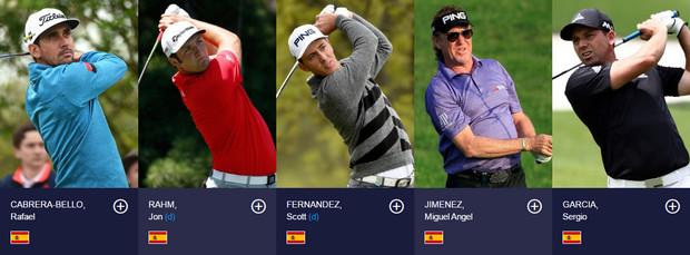 Golfistas españoles en el Open 2016