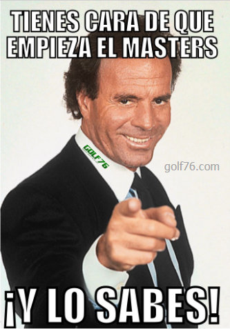Memes de Golf - Julio Masters