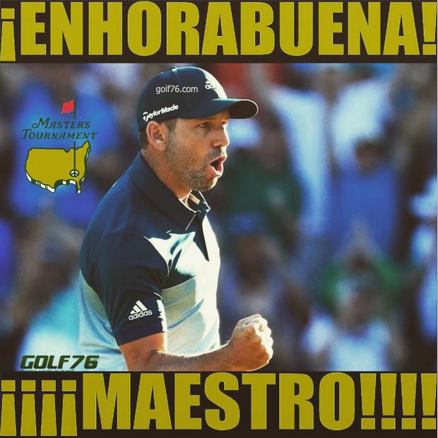 Memes de Golf Masters Sergio García Campeón Golf76com